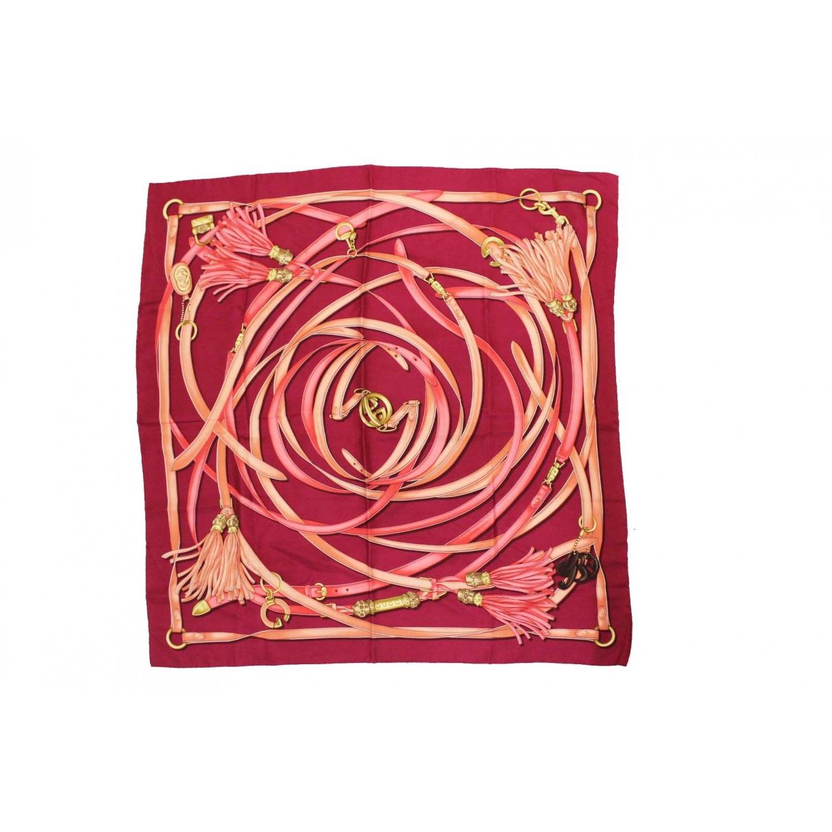Gucci - Carre   pour femme en soie - rose