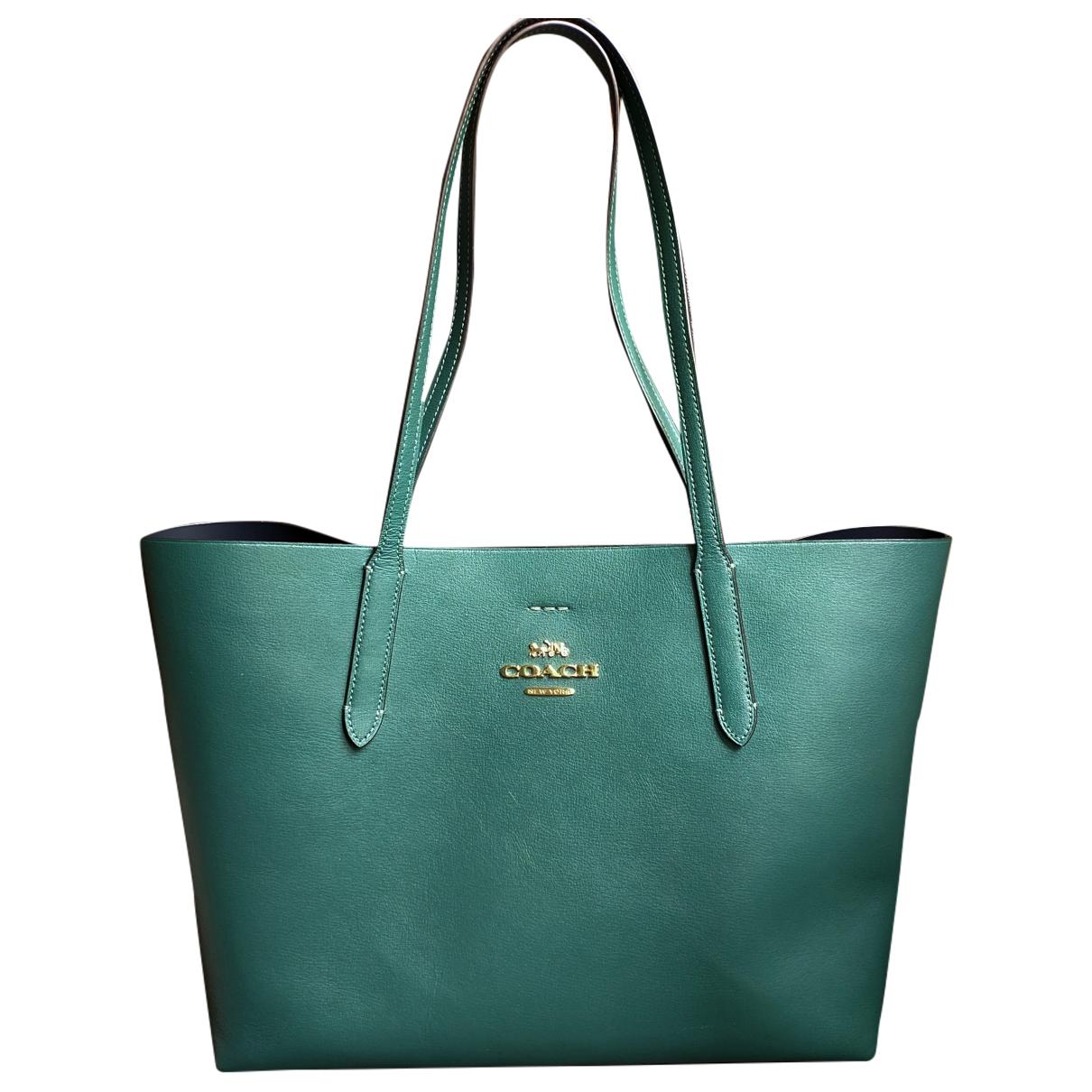 Coach \N Green Leather handbag for Women \N