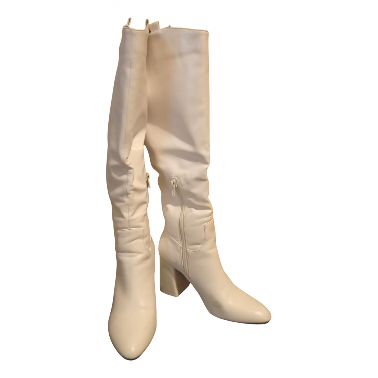 Non Signé / Unsigned N White Boots for Women 36 EU