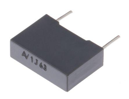 KEMET 1μF Polyester Capacitor PET 40 V ac, 63 V dc ±5%, Through Hole (5)