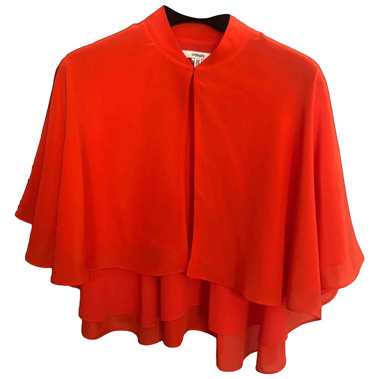 Uterque - Veste   pour femme en soie - orange