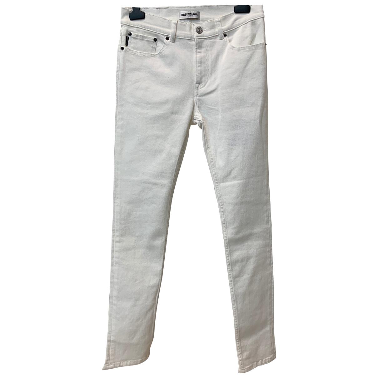 Balenciaga - Jean   pour femme en coton - blanc