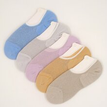 5pairs Simple Invisible Socks
