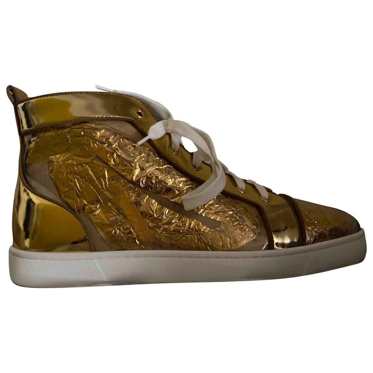 Christian Louboutin Louis Gold Patent leather Trainers for Men 10 UK
