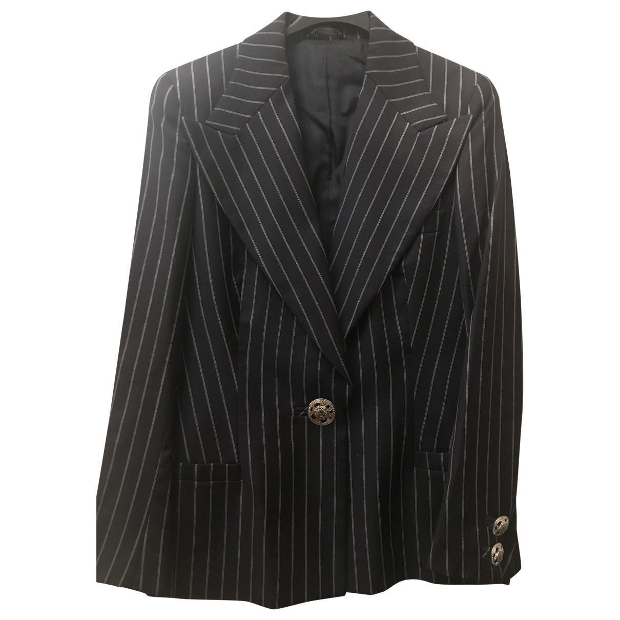 Versace \N Blue Wool jacket for Women 40 IT