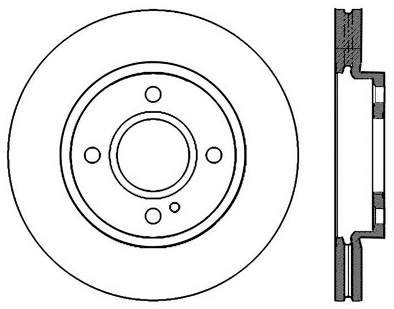 StopTech 126.61096SR Sport Slotted Brake Rotor; Front Right Ford Front Right