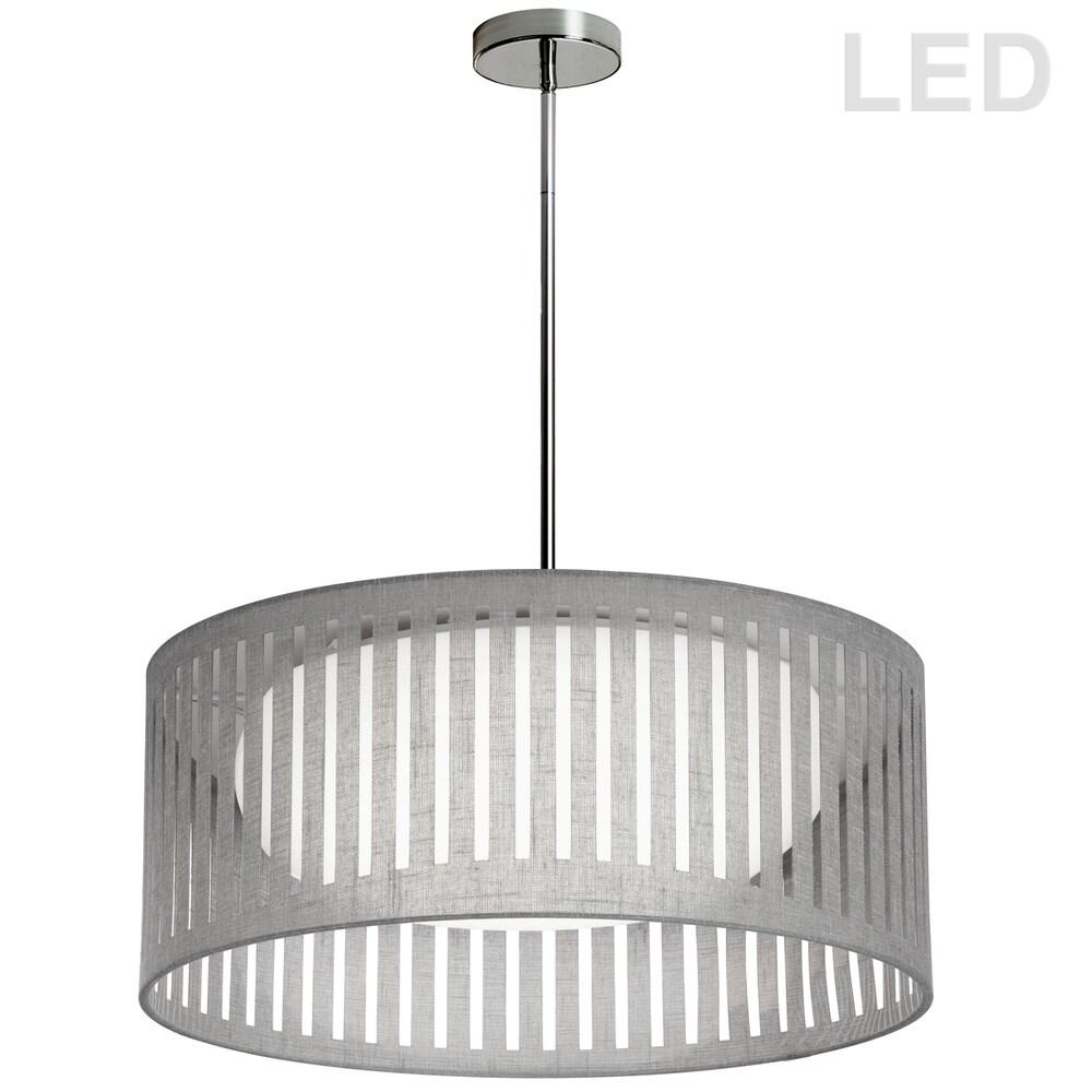 22W Slit Drum LED Pendant, Grey Shade (Less than 60 Watts)
