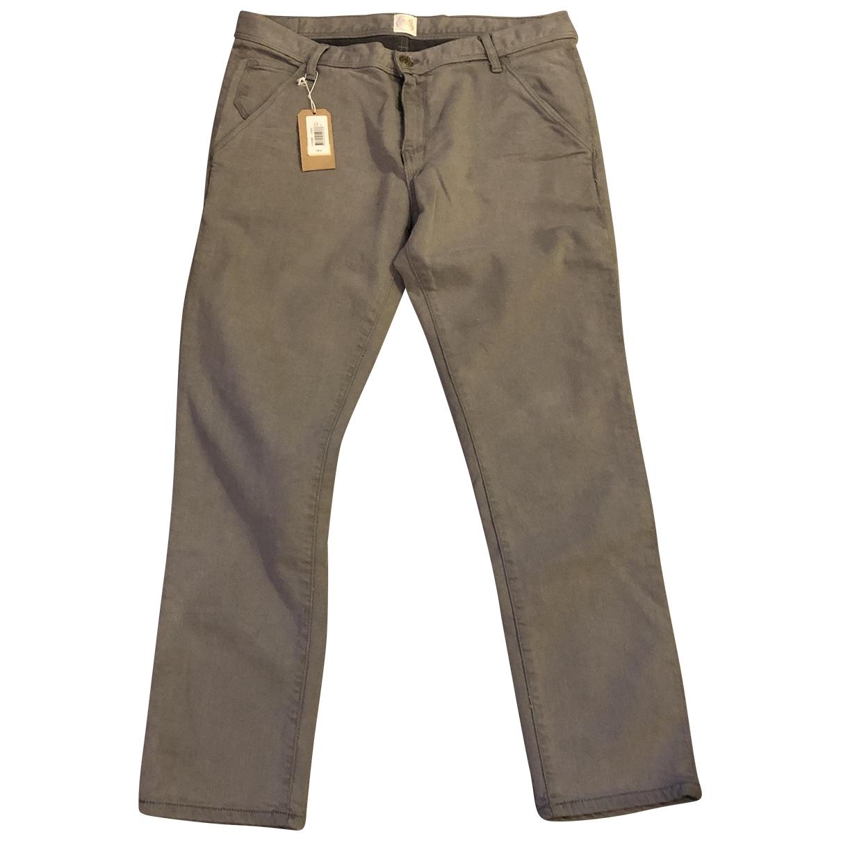 Des Petits Hauts \N Grey Cotton Trousers for Women 40 FR