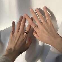 7 piezas anillo minimalista