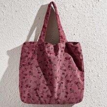 Calico Print Tote Bag
