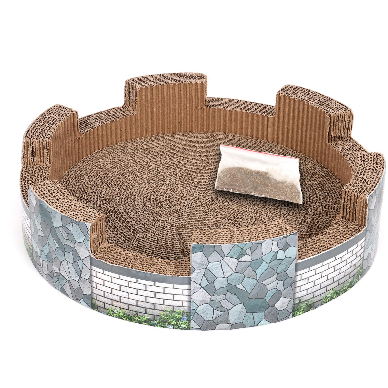Ware Manufacturing Corrugated Catnip Castle - Grey