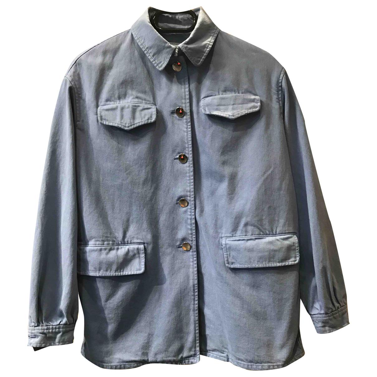 Prada - Veste   pour femme en coton - bleu