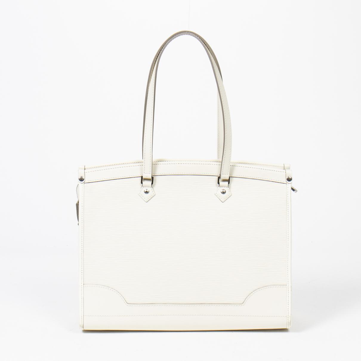 Louis Vuitton Madeleine White Leather handbag for Women \N