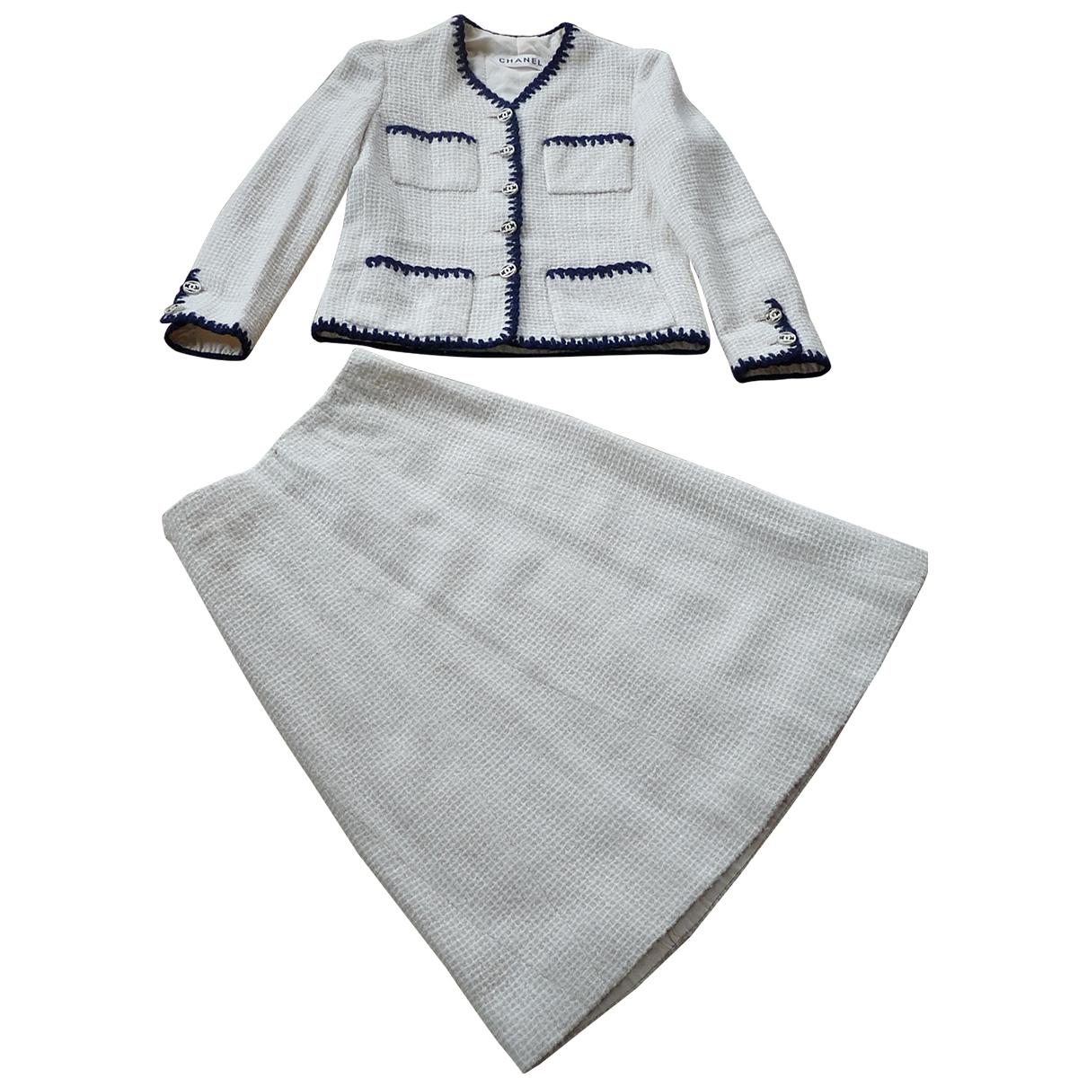 Chanel \N Ecru Tweed jacket for Women 34 FR