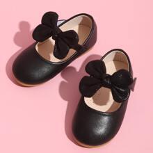 Zapatos planos para niños pequeños Lazo Liso mary Jane