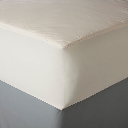 Allerease Naturals Cotton Top Mattress Pad, One Size , White