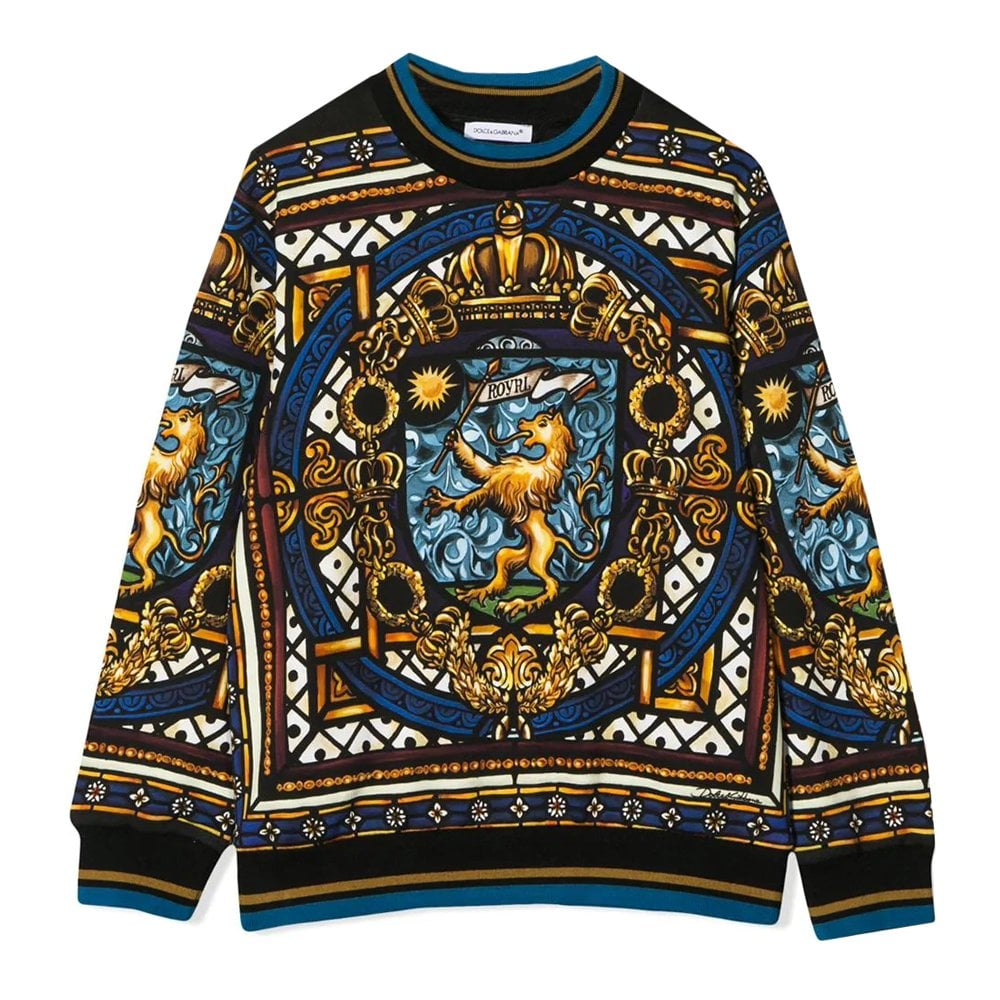Dolce & Gabbana Stained Glass Window Sweatshirt Colour: MULTI COLO