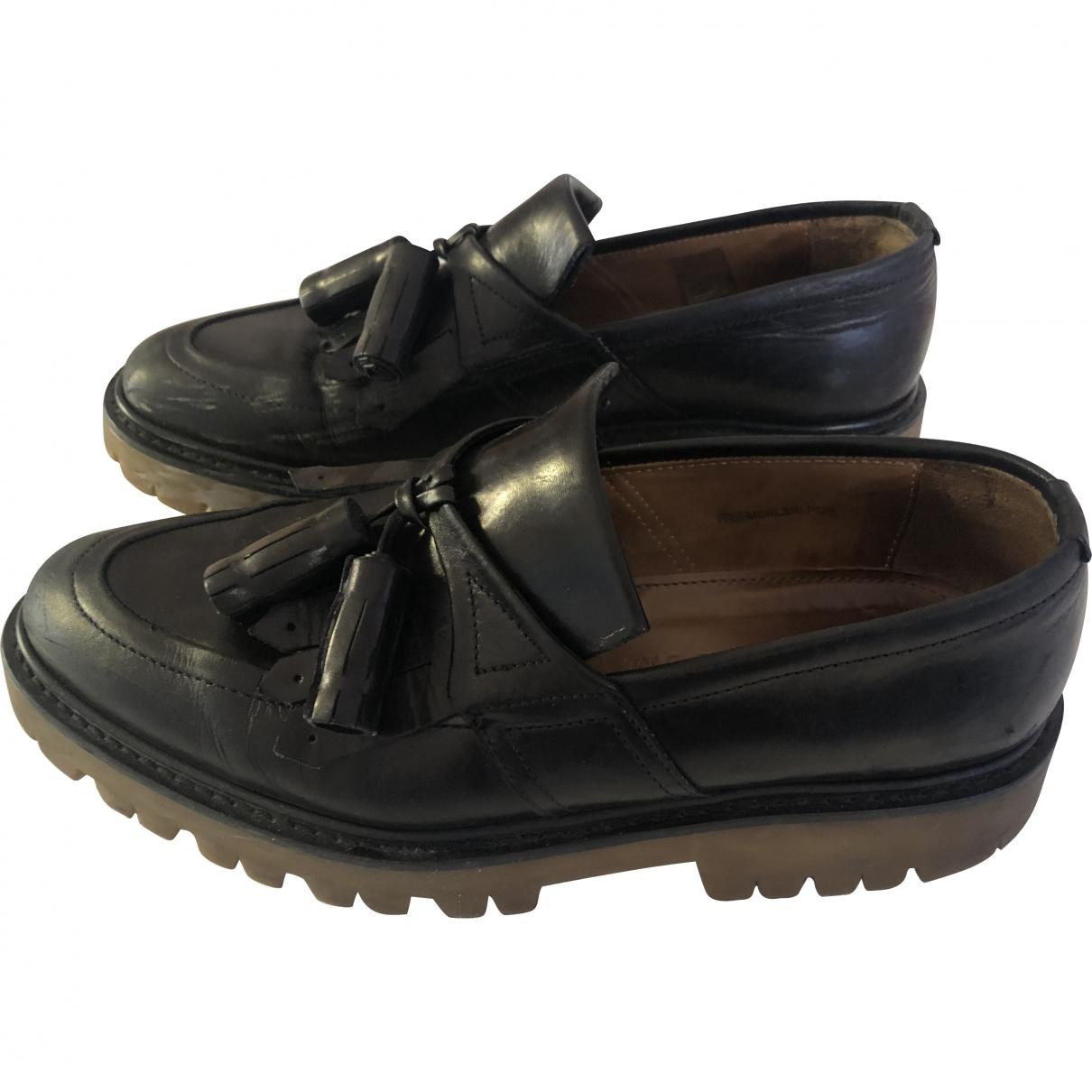 Burberry - Mocassins   pour homme en cuir - noir