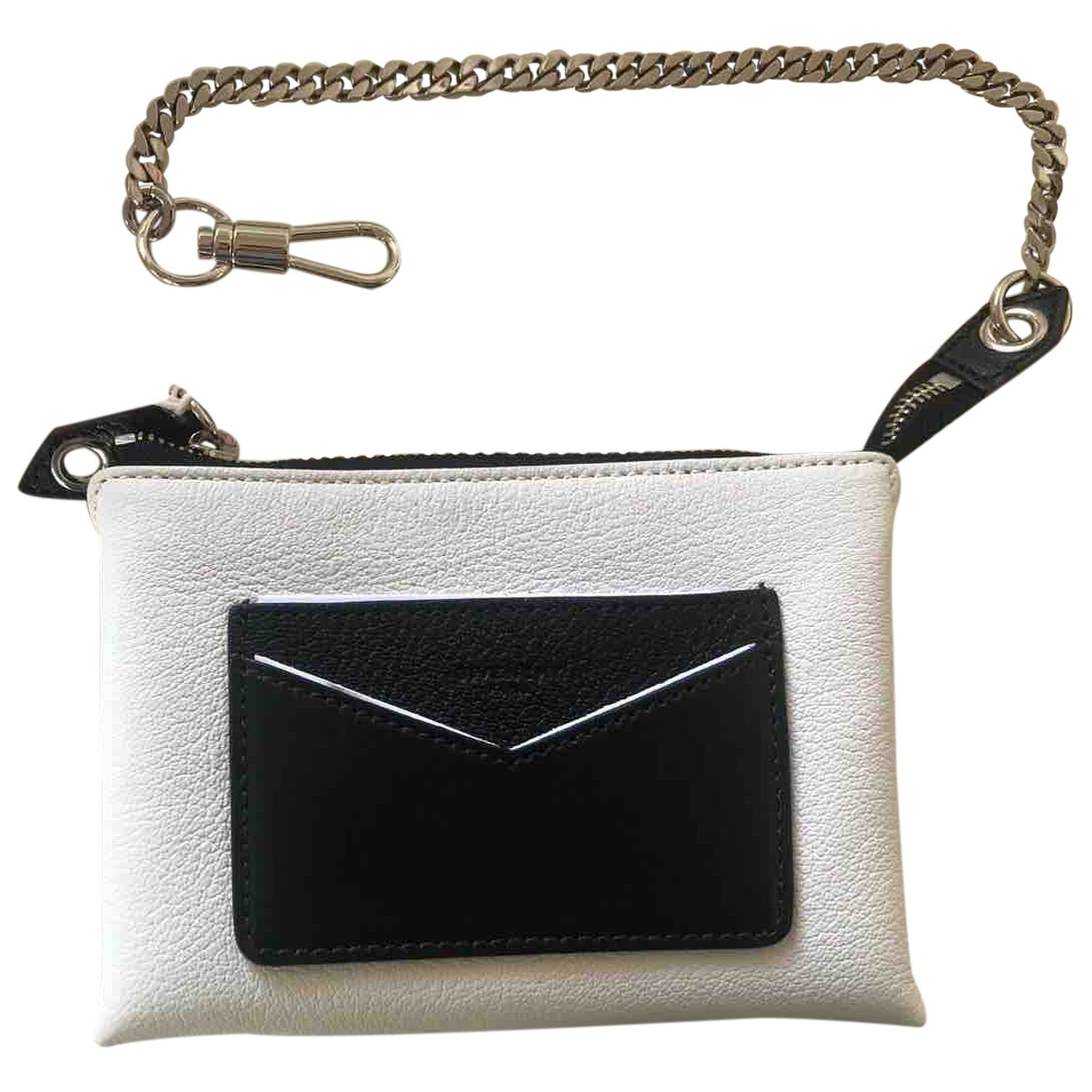 Givenchy \N Clutch in  Weiss Leder