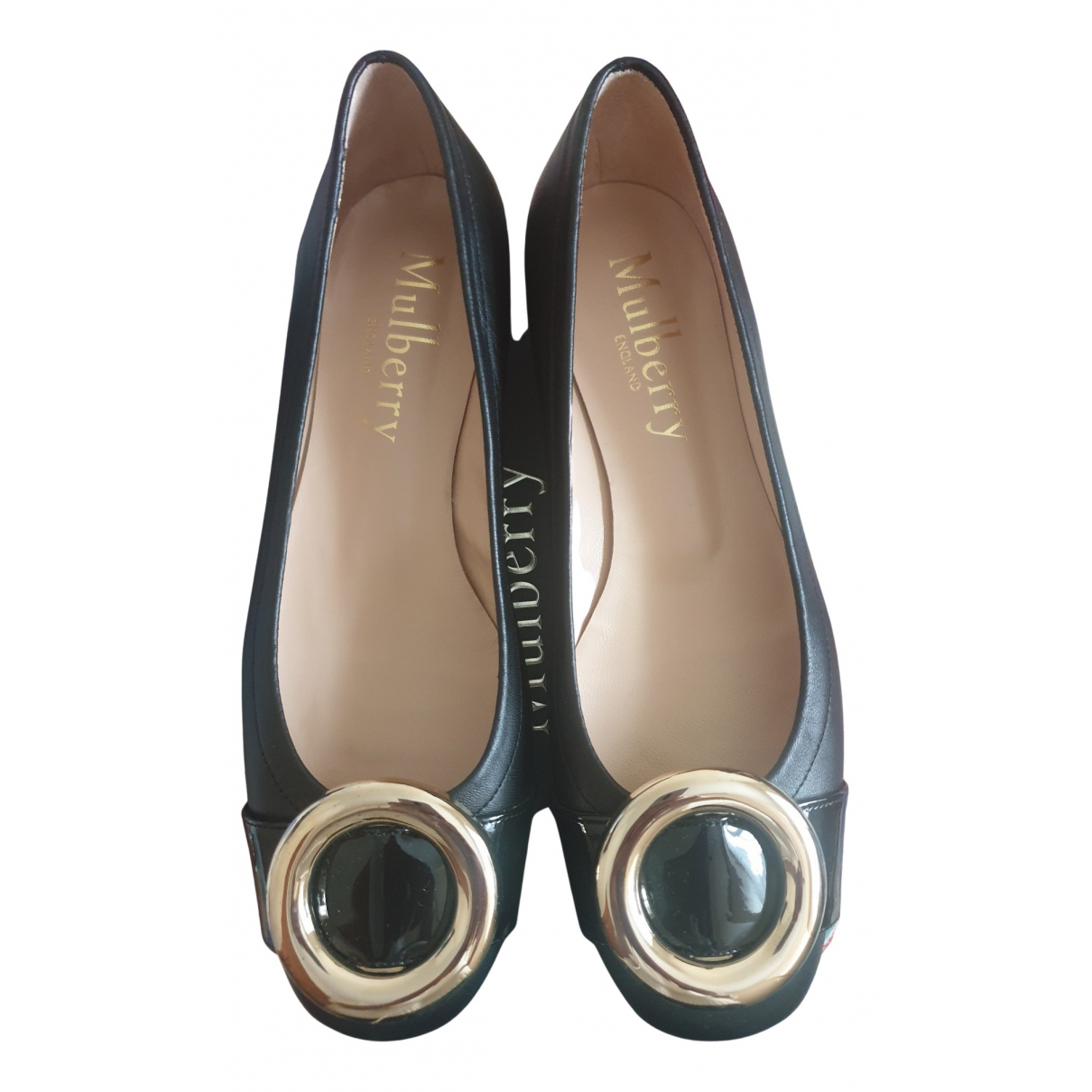 Mulberry N Black Leather Ballet flats for Women 38 EU