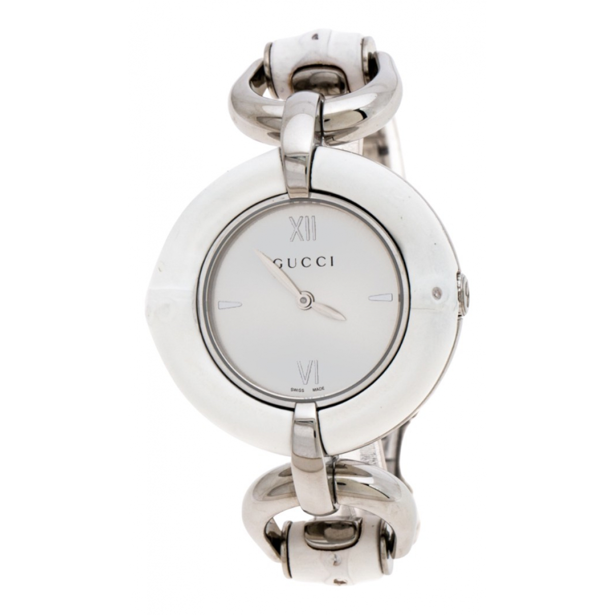 Gucci Bamboo Uhr in  Weiss Stahl