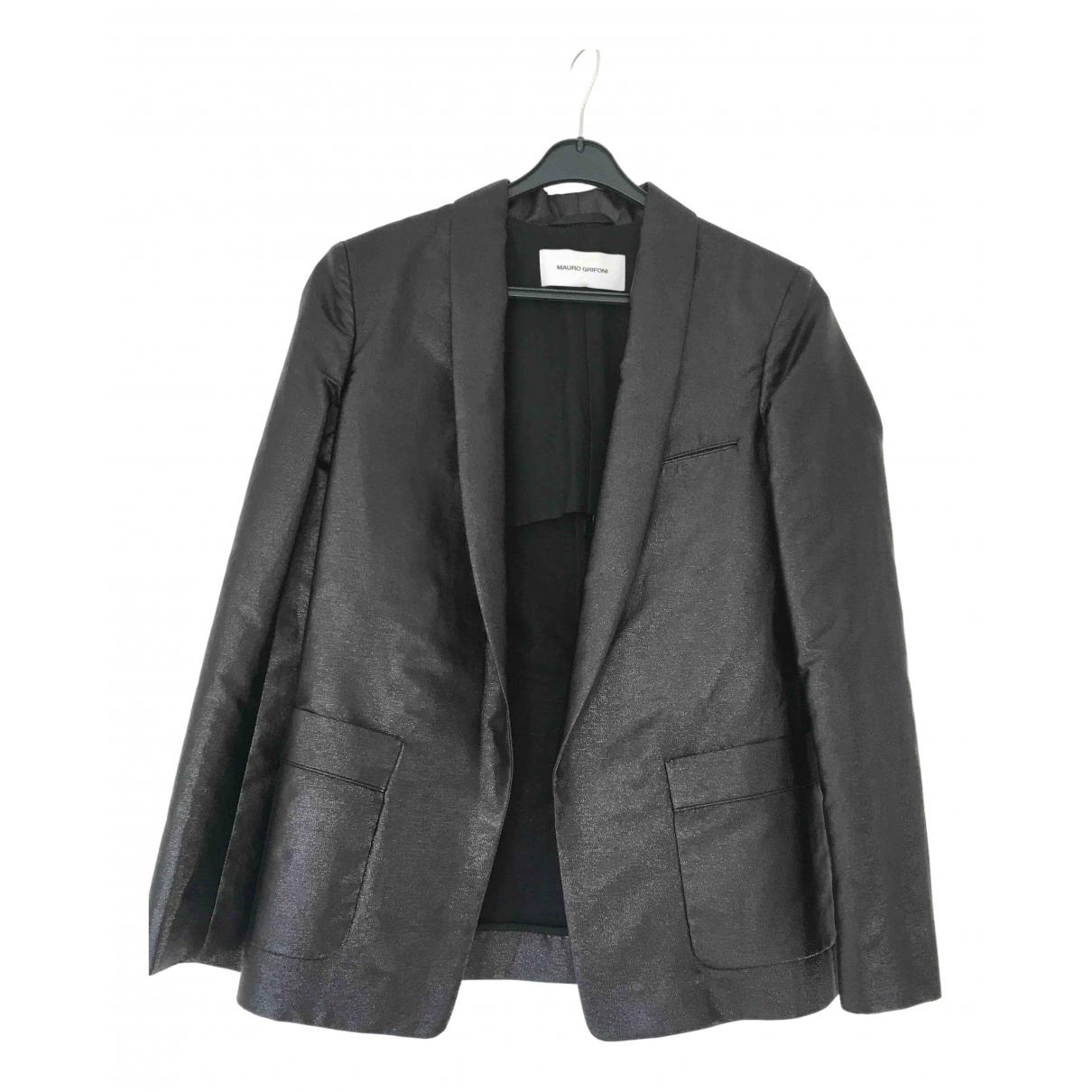 Mauro Grifoni \N Black Cotton jacket for Women 40 IT