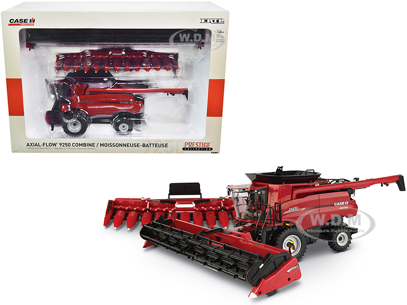 Case IH Axial-Flow 9250 Combine with Draper Head and Folding Corn Head