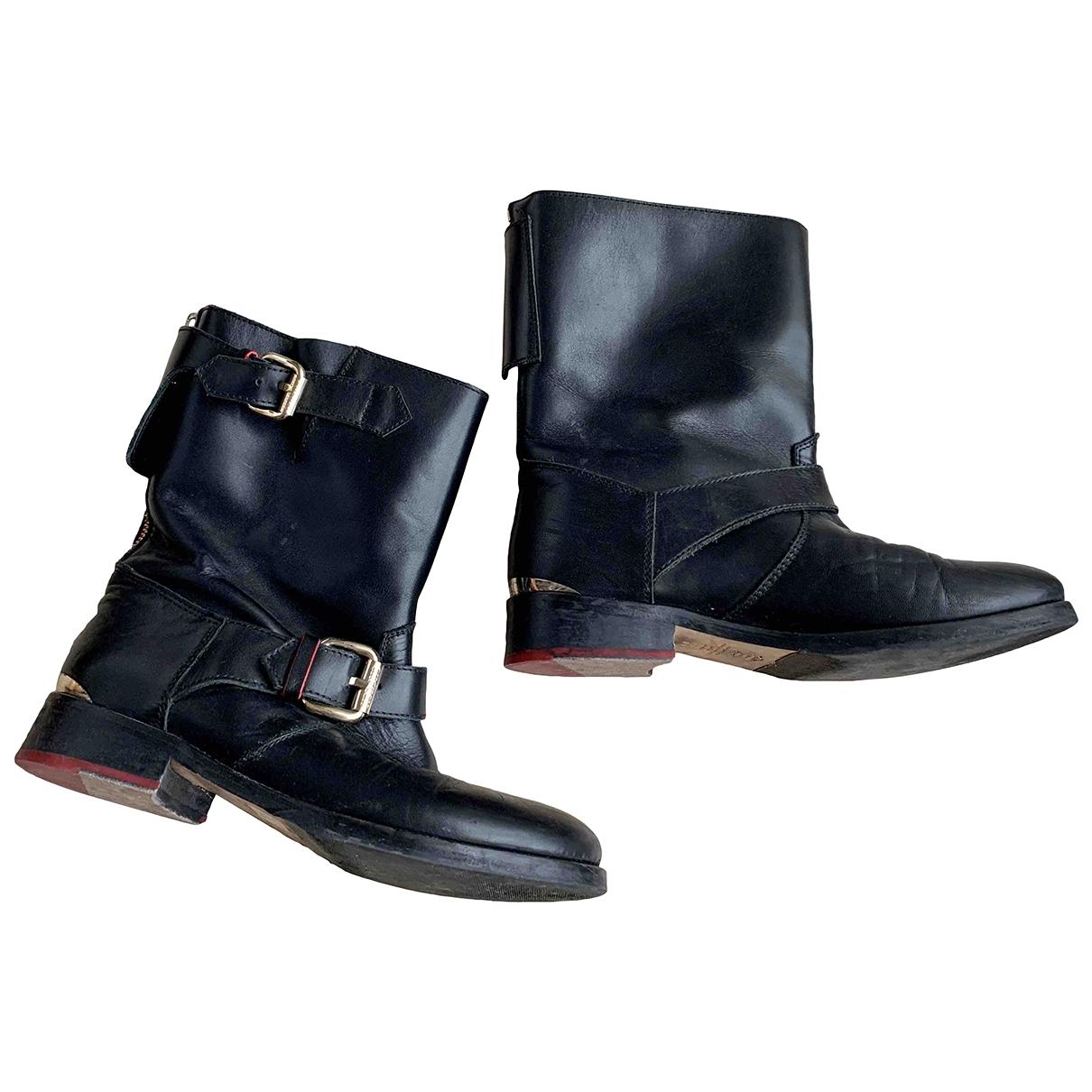 Carolina Herrera \N Black Leather Boots for Women 39 EU