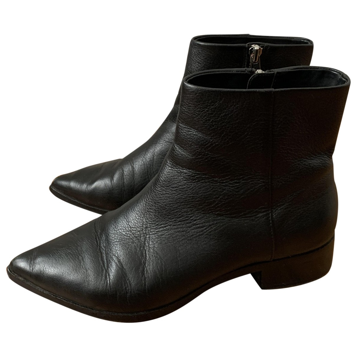 & Stories \N Black Leather Ankle boots for Women 38 EU
