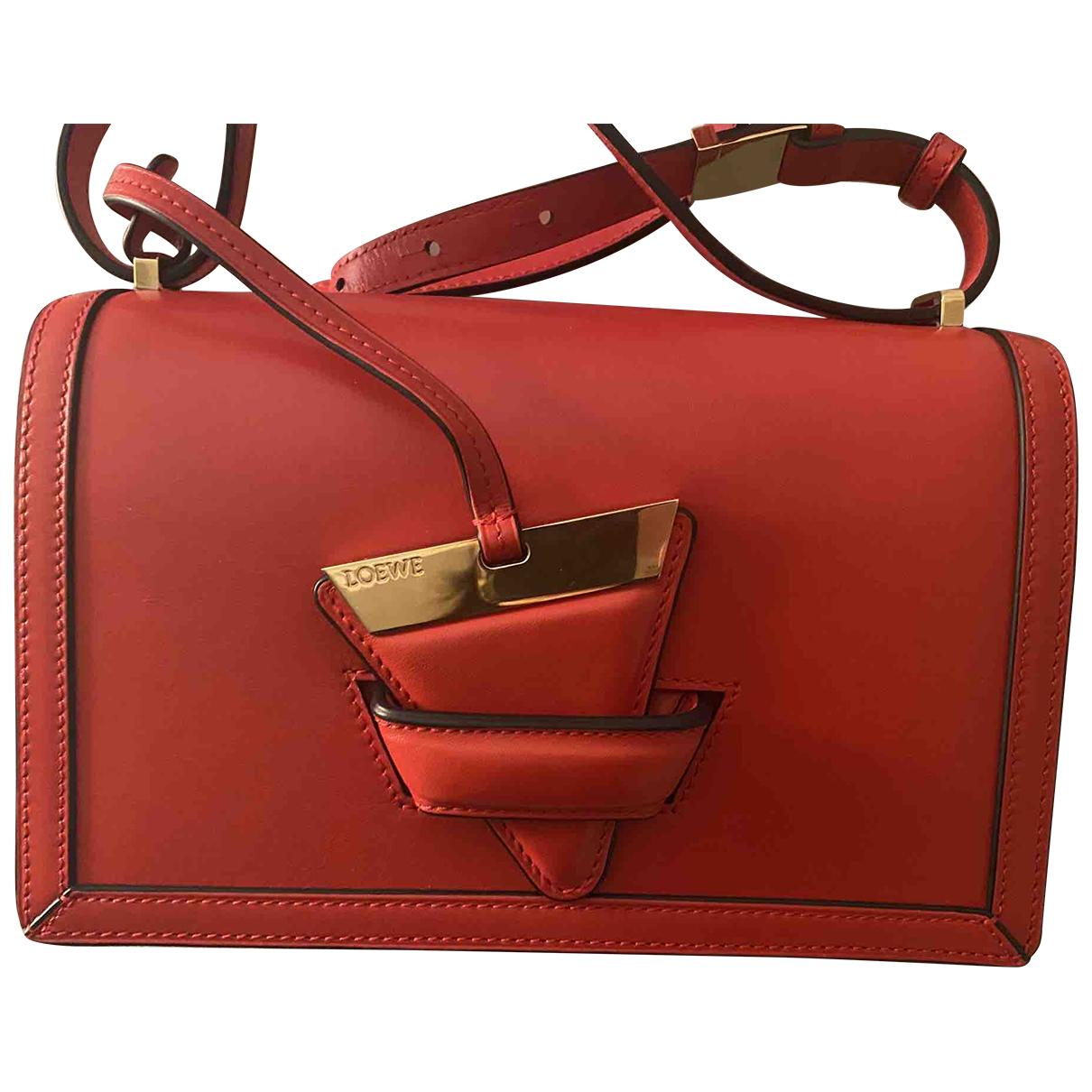 Loewe Barcelona Red Leather handbag for Women N
