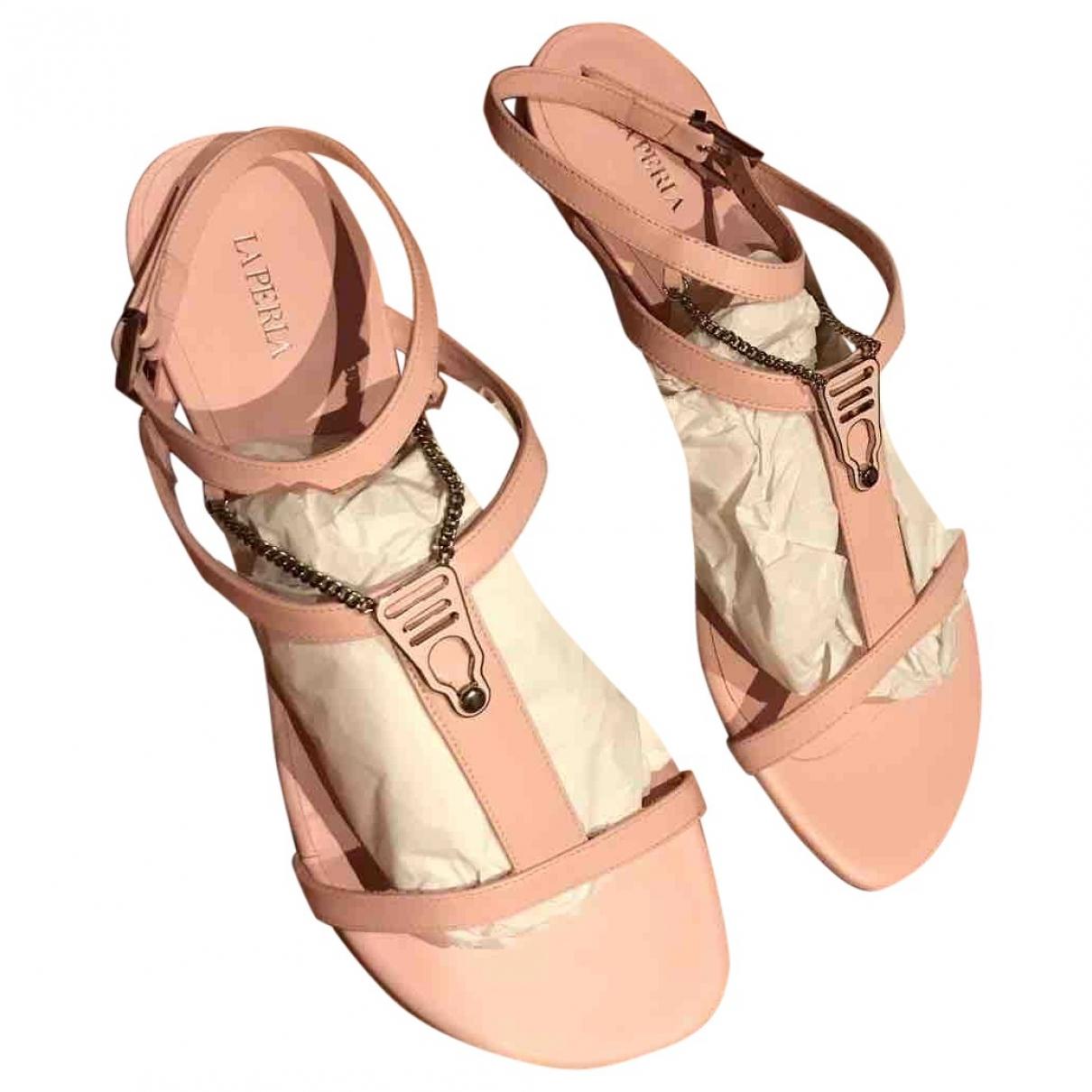 Sandalias romanas de Cuero La Perla