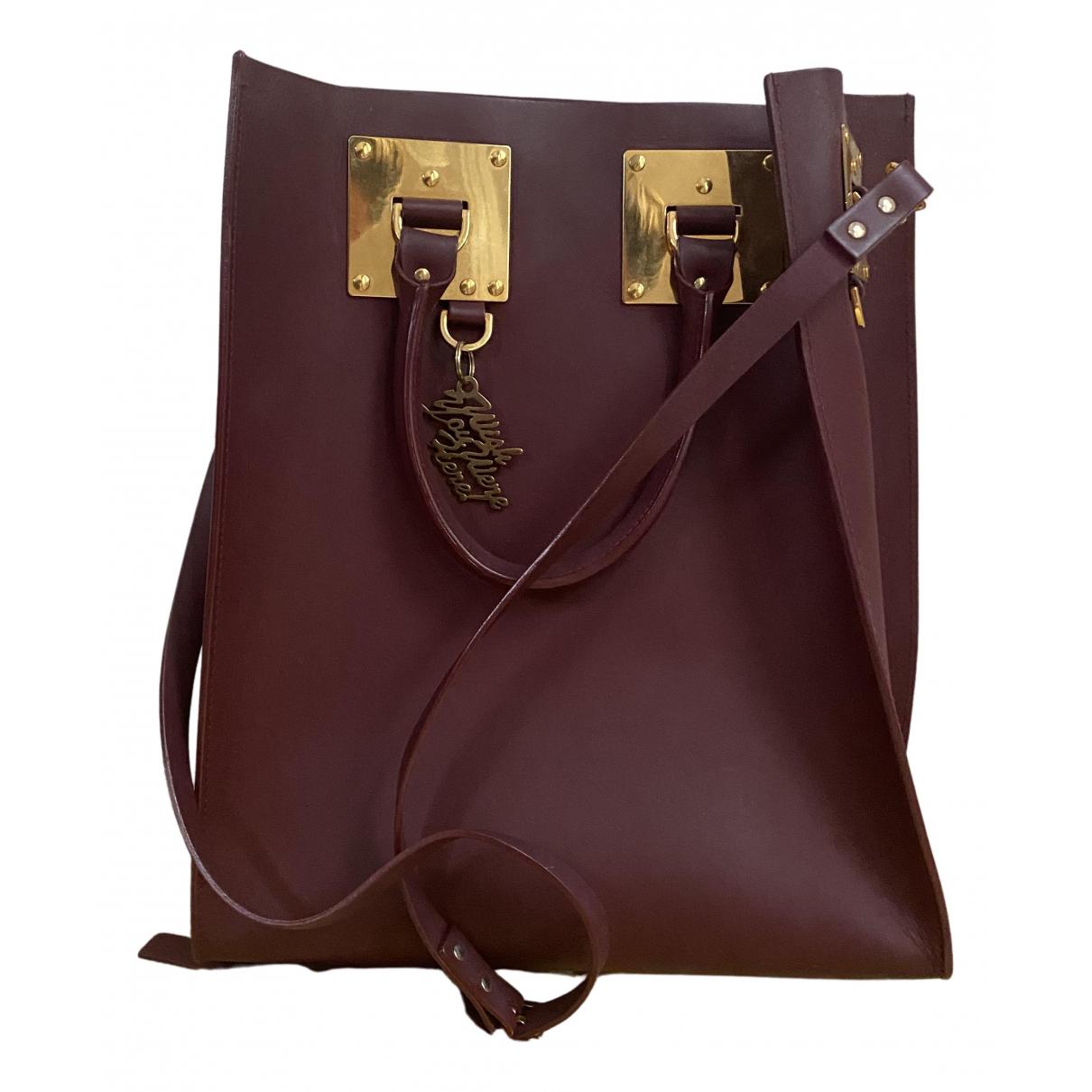 Sophie Hulme \N Handtasche in  Bordeauxrot Leder