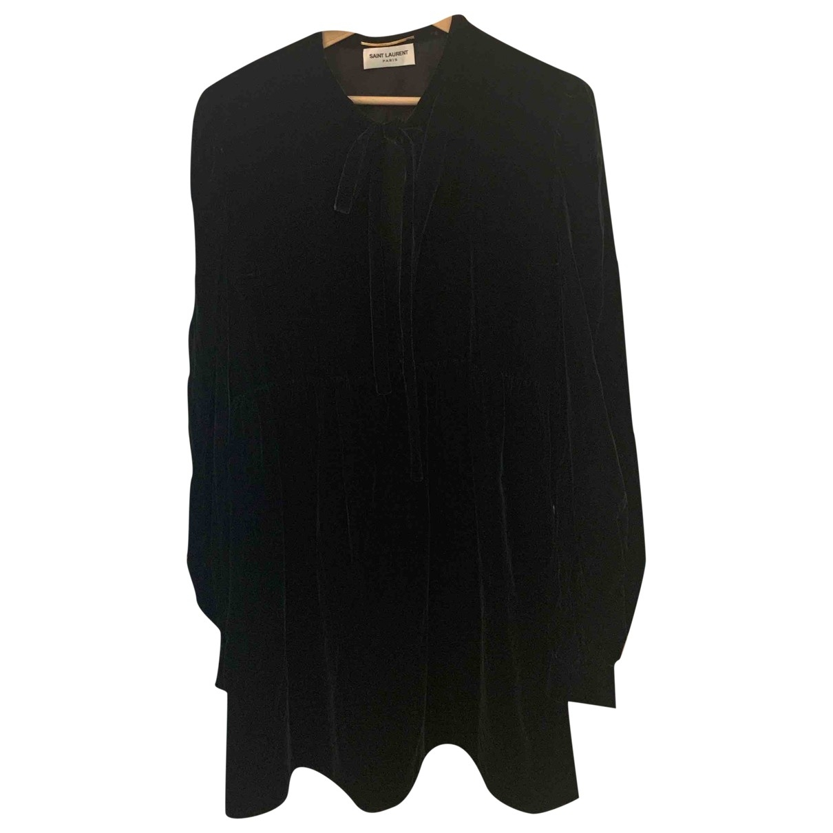 Saint Laurent \N Green Velvet dress for Women 42 FR