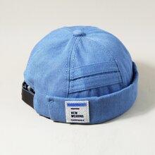 Men Letter Patch Hat
