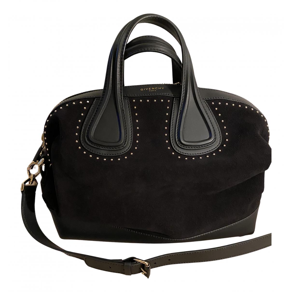 Givenchy Nightingale Handtasche in  Schwarz Veloursleder