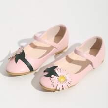 Zapatos planos para niños pequeños Floral mary Jane