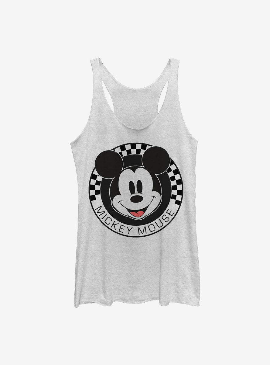 Disney Mickey Mouse Checkered Womens Tank Top