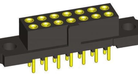 HARWIN , M80 2mm Pitch 42 Way 2 Row Straight PCB Socket, Through Hole, Solder Termination