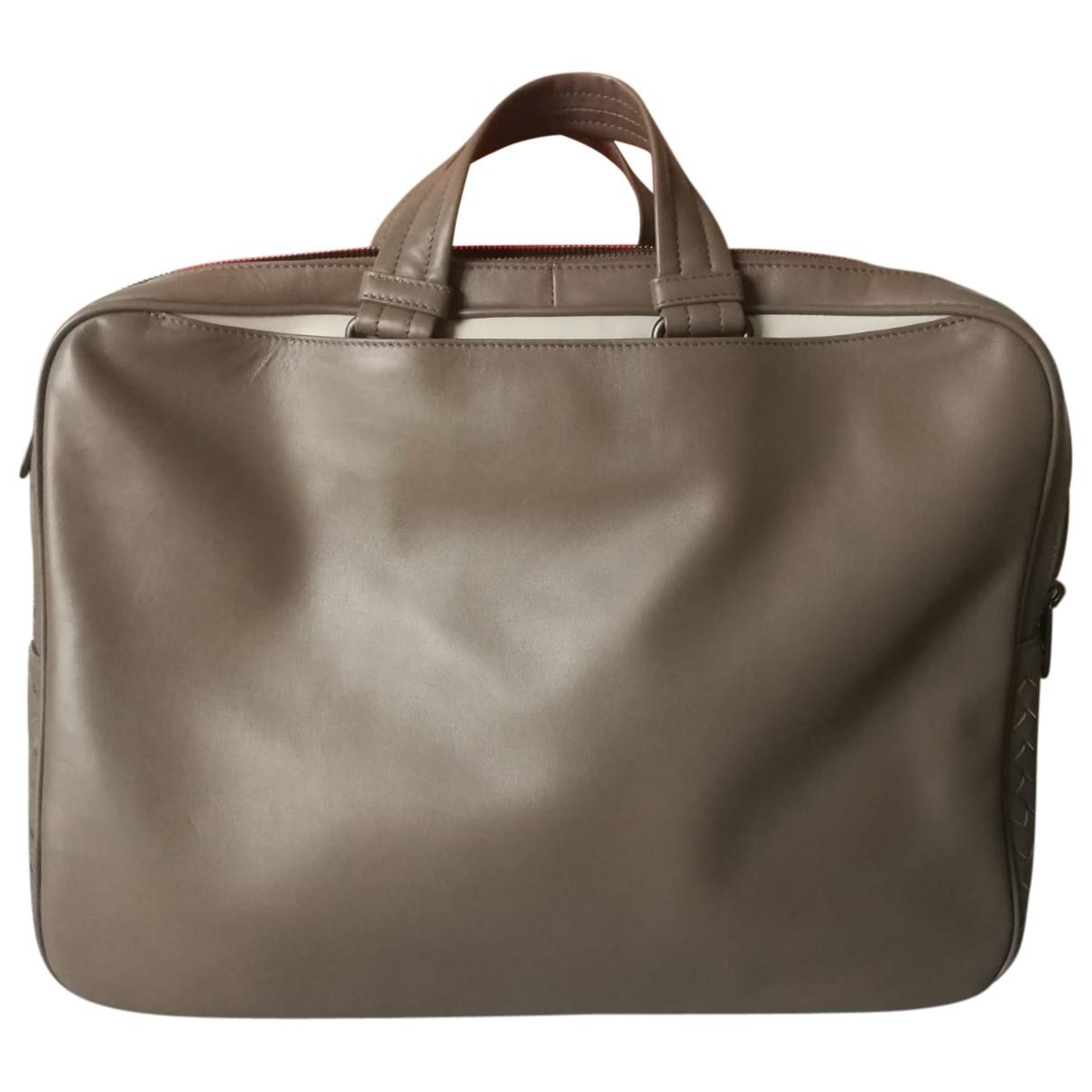 Bottega Veneta \N Beige Leather bag for Men \N