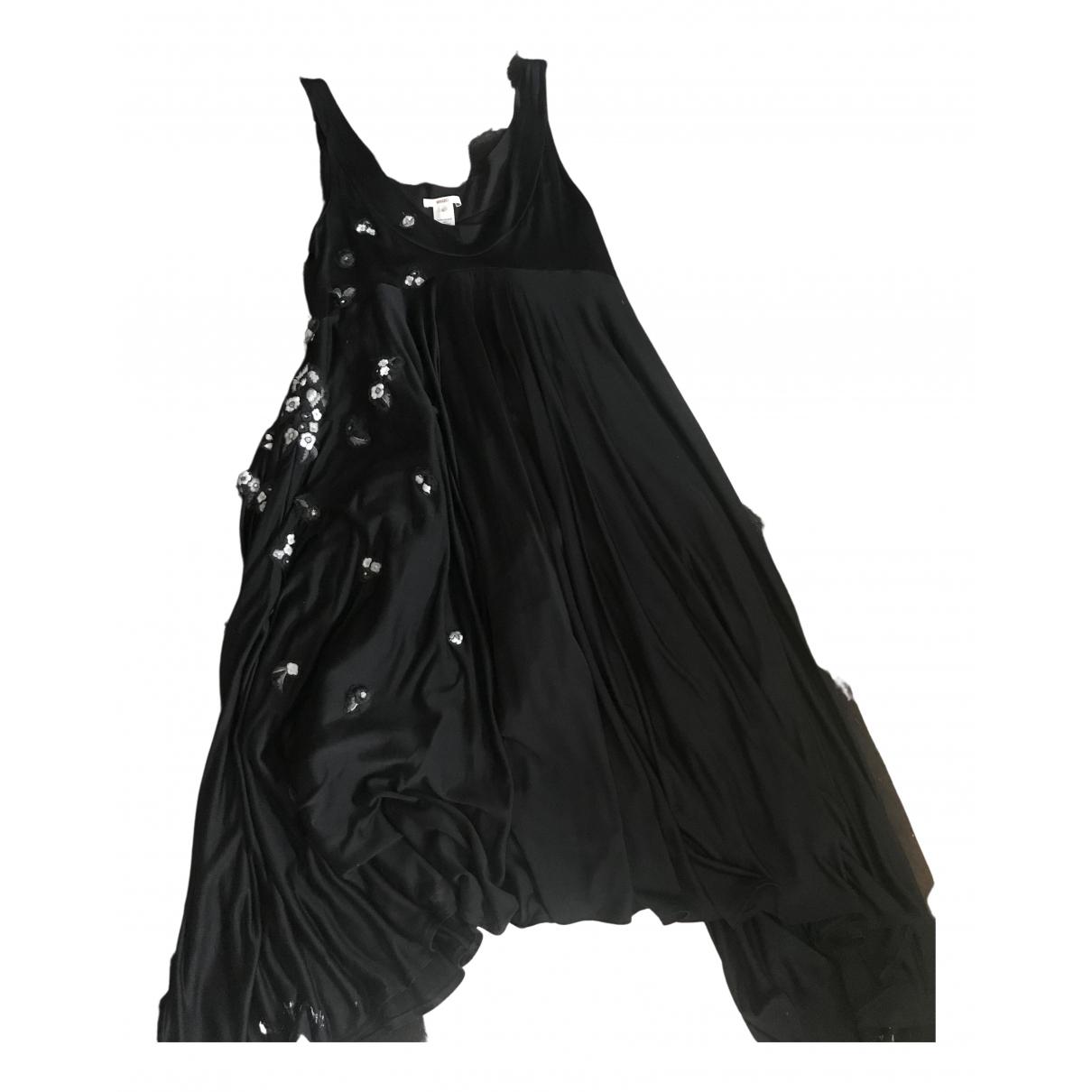 Kenzo \N Kleid in  Schwarz Seide