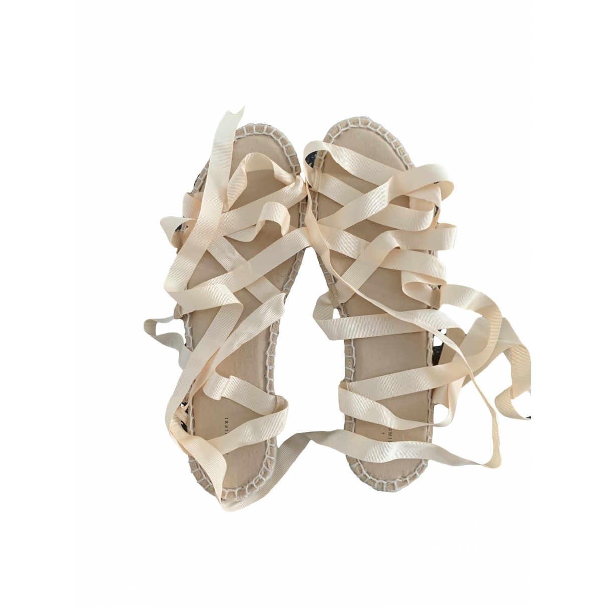 Alighieri - Sandales   pour femme en toile - beige