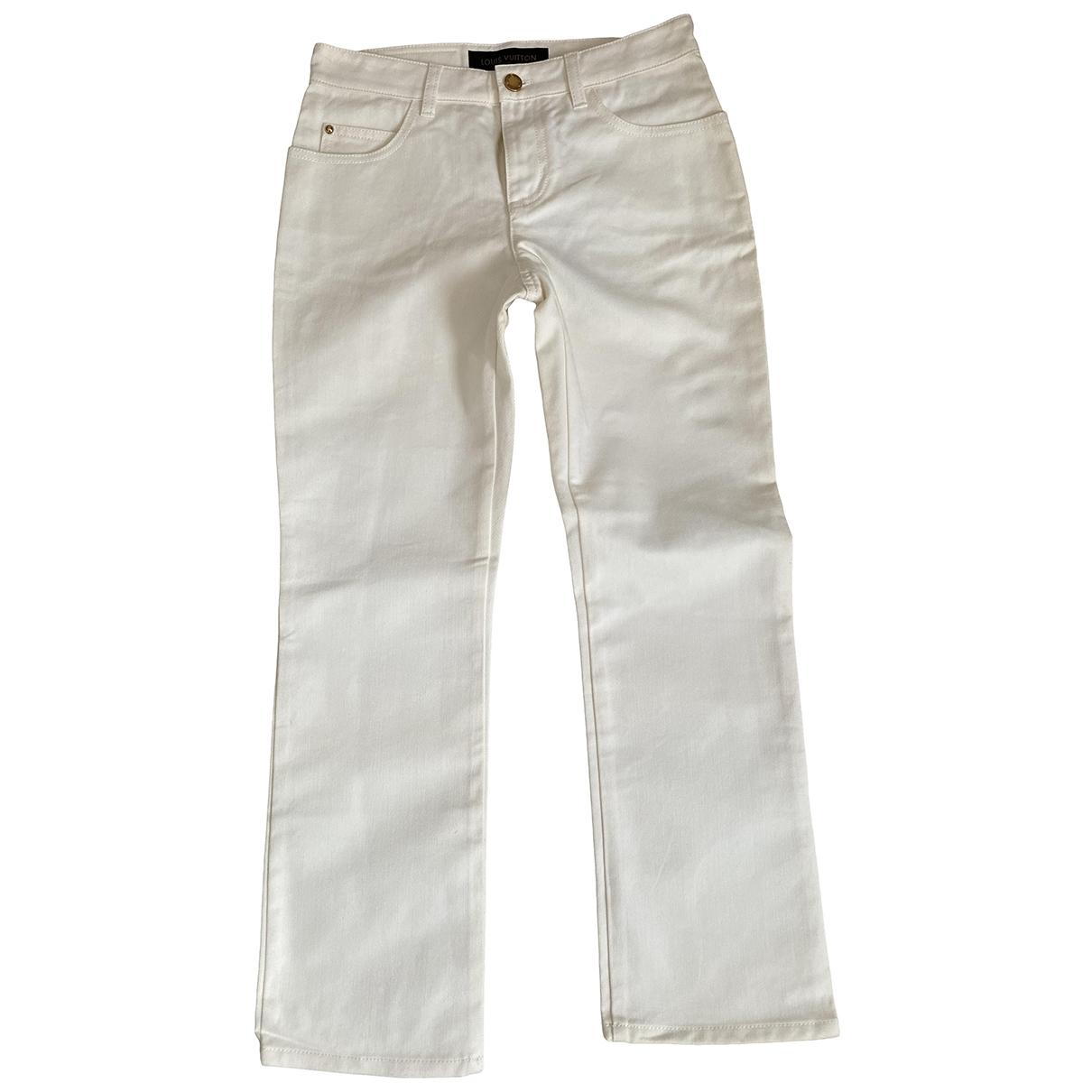 Louis Vuitton - Pantalon   pour femme en coton - blanc
