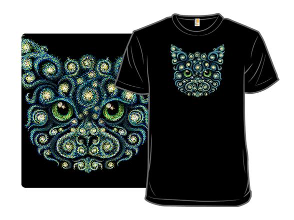 Starry Cat T Shirt