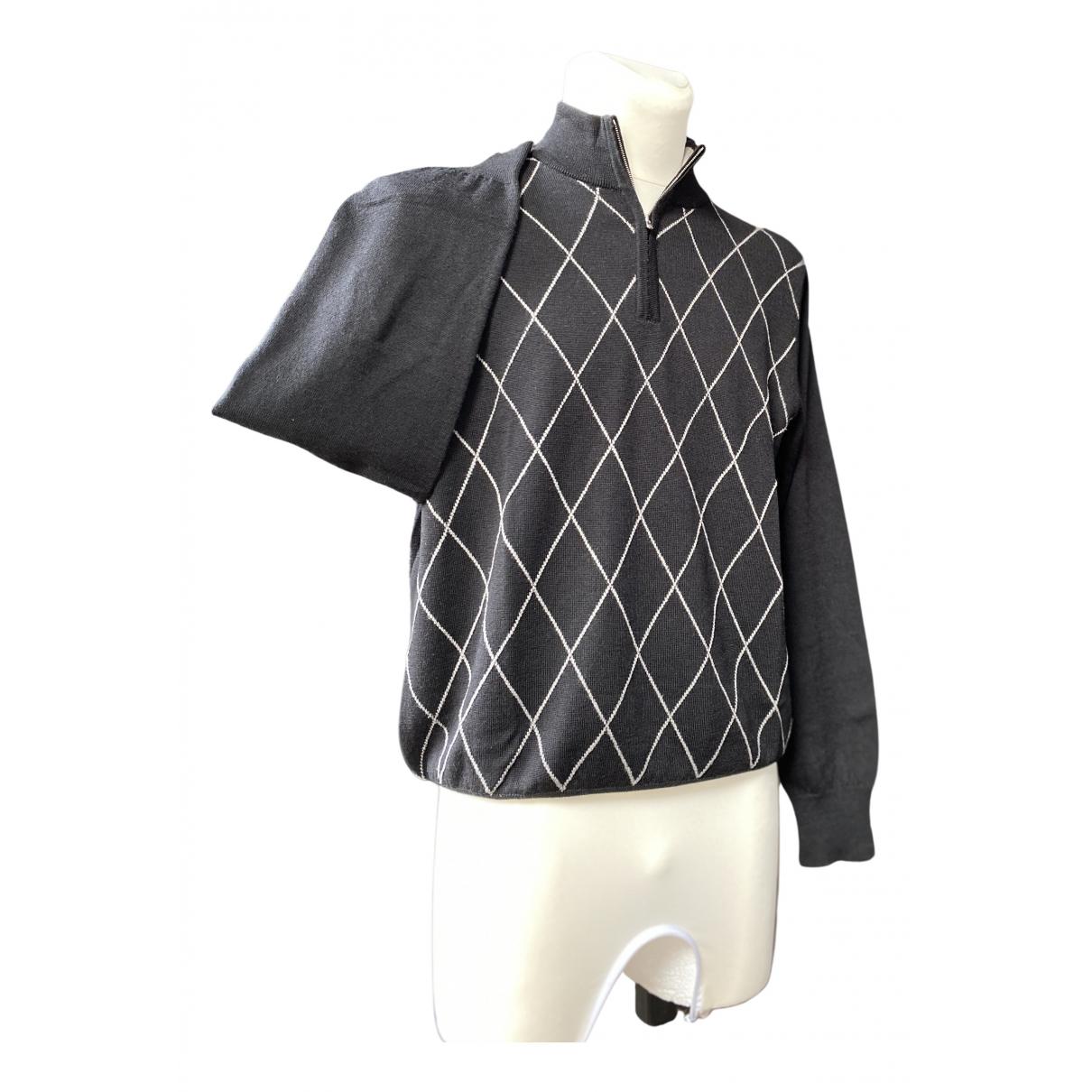 Non Signe / Unsigned \N Pullover.Westen.Sweatshirts  in  Schwarz Wolle
