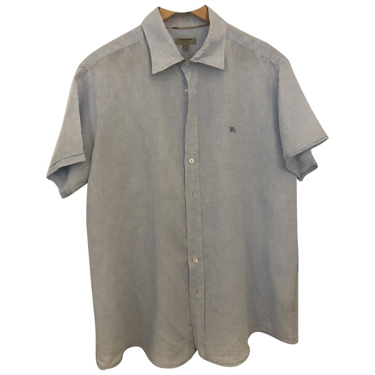 Burberry - Chemises   pour homme en lin - bleu