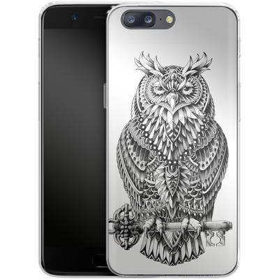 OnePlus 5 Silikon Handyhuelle - Great Horned Owl von BIOWORKZ