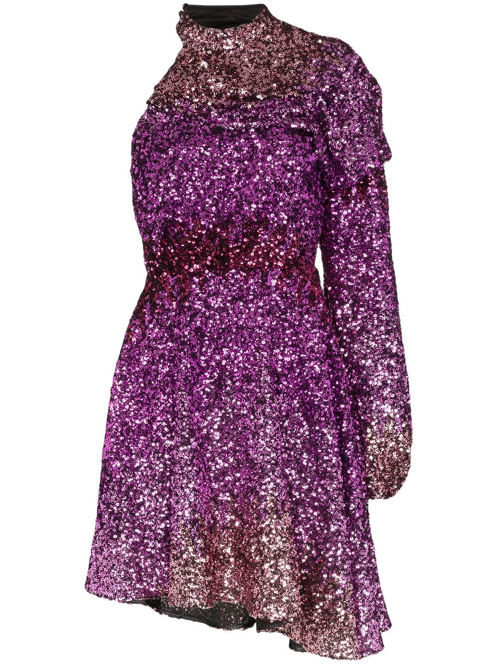One Sleeve Dress with sequins