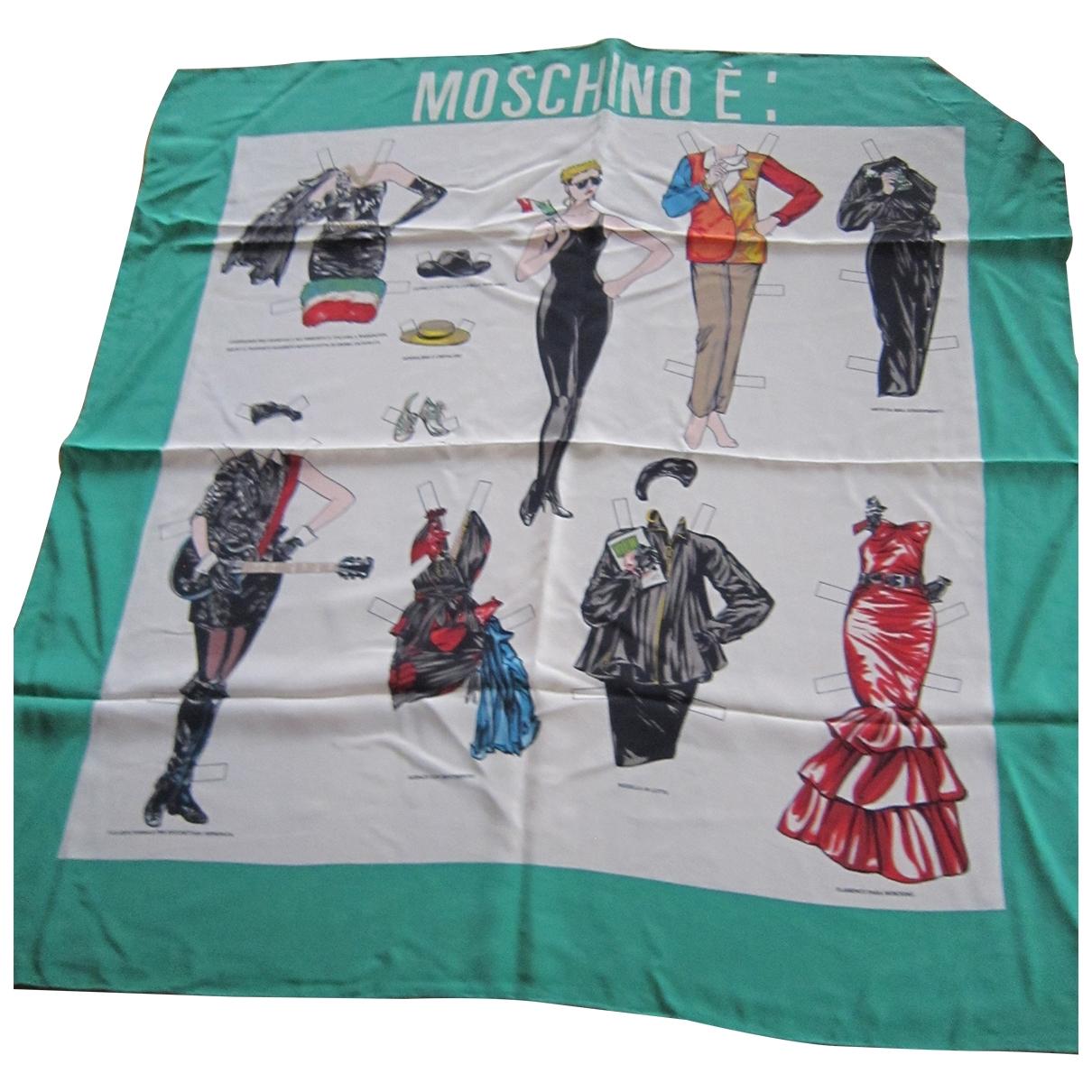 Moschino \N White Silk scarf for Women \N