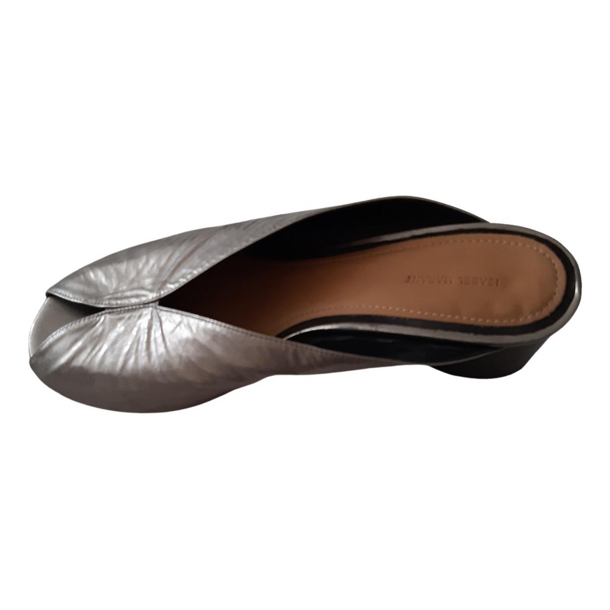 Isabel Marant - Sandales   pour femme en cuir - argente