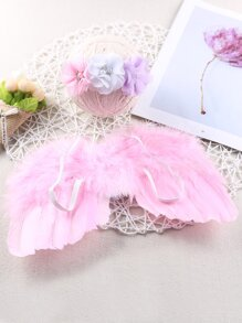 Newborn Unisex Wings & Headband Photo Outfit
